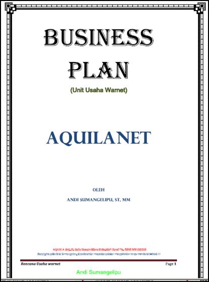 Contoh Proposal Business Plan Warnet Larepairinnyc Web Fc2 Com